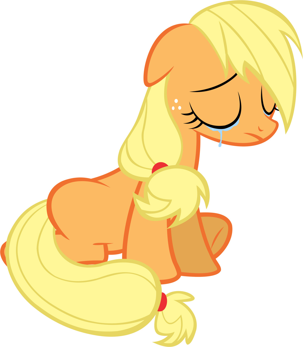 Crying On The Inside  Applejack  Fimfiction